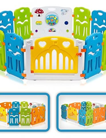 Baby-Vivo-PARC-BB-AVEC-PORTE-MATIRE-PLASTIQUE-COLORS-XL-0