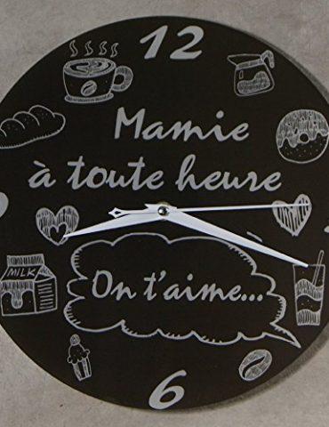 Horloge-Je-taime-Mamie--Cadeau-original-pour-Papi-et-Mamy--Fte-des-Grands-mres-Anniversaire-Nol-0