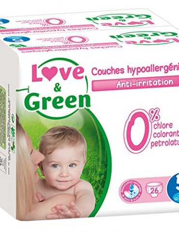 Love-Green-Couches-Bb-Hypoallergniques-0-Taille-5-11-25-kg-Lot-de-2-x-26-couches-52-couches-0