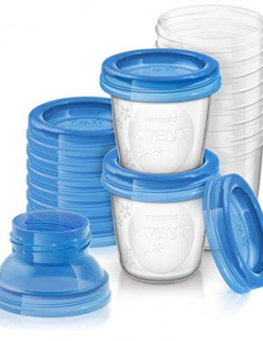 Philips-Avent-Systme-de-Conservation-du-Lait-Maternel-Pots-de-Conservation180-ml-Couvercles-Vissables-et-Adaptateur-0