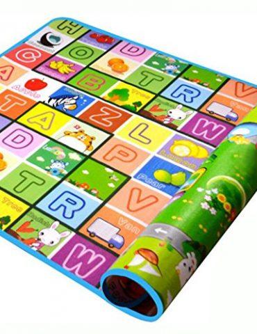 SIMPVALE-Tapis-Mousse-Epais-Tapis-de-Jeu-Jouet-Epais-Tapis-Dveil-pour-Bb-Enfant-Bas-Age-Motif-Dessin-Alphabet-Chiffres-Animaux-18012005cm-0