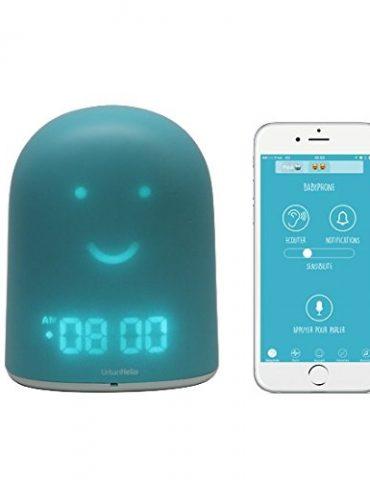 UrbanHello-REMI--Babyphone-Ecoute-Bb-avec-alertes-de-bruit-5-en-1-Veilleuse-Enceinte-Bluetooth-Rveil-Jour-Nuit-ducatif-et-Suivi-du-sommeil-en-Bleu-0