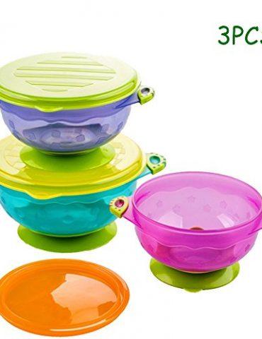 Yakamoz-3PCS-Bb-Succion-Bol-Preuve-en-cas-de-dversement-Bols-bb-Avec-Enclenchez-Couvercle-tanche-Bb-Cadeau-de-3-Count-Idal-Pour-les-Bbs-et-les-Tout-Petits-Sans-BPA-BPS-FDA-Approuv-0